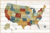 Barnboard Map Fine Art Print