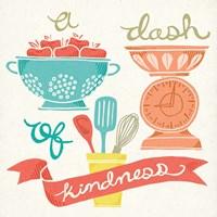 A Dash of Kindness Framed Print