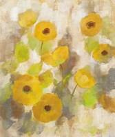 Floating Yellow Flowers III Framed Print