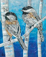 Winter Chickadees Fine Art Print