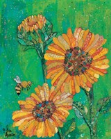 Sunflowers and Bee Fine Art Print