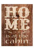 At The Cabin Framed Print