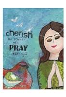 Cherish The Friends Who Pray Framed Print