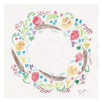 Wildflower Wreath 1 Framed Print