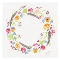 Wildflower Wreath 2 Fine Art Print