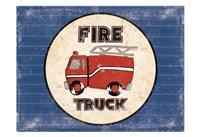 Fire Truck Blues Framed Print