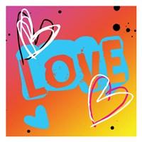 Love The Heart Framed Print