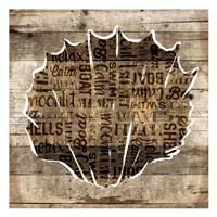 Wooden Shell Words Mate Framed Print