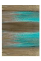 Turquoise Stream 1 Framed Print