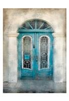 Teal Doorway Fine Art Print