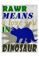 Rawr Means Framed Print