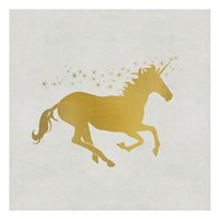 Unicorn Gold 1 Fine Art Print