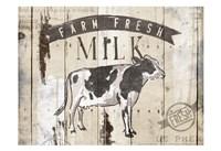 Farm Fresh Milk Horizontal Fine Art Print