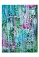 Teal Bubbles Framed Print