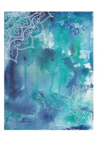 Blue Balance Framed Print