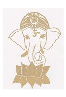 Golden Elephant Lotus Fine Art Print