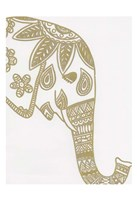 Elephant Gold 3 Framed Print