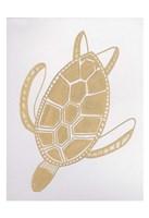 Golden Sea Turtle Fine Art Print