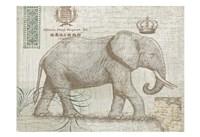 Elegant Safari Elephant 2 Fine Art Print