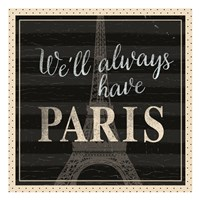 Always Paris Dots Fine Art Print