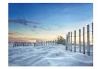 Fenced Sunset Fine Art Print