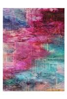 Third Dimensional Color Drift Framed Print