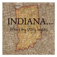 Story Indiana Framed Print