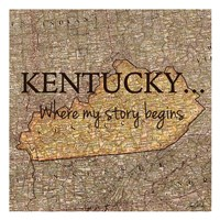 Story Kentucky Framed Print