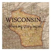 Story Wisconsin Framed Print