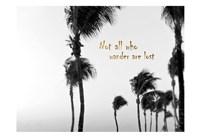 Wandering Golden Palms Fine Art Print