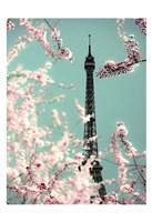 Spring Eiffel Green Fine Art Print