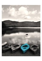 Kayaks Teal Fine Art Print