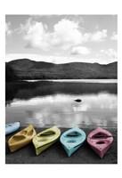Kayaks Pastels Fine Art Print