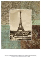 Paris Scrapbook II Fine Art Print