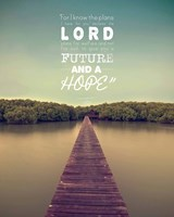 Jeremiah 29:11 For I know the Plans I have for You (Lake House Color) Fine Art Print