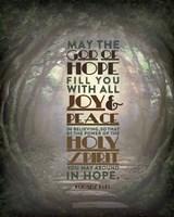 Romans 15:13 Abound in Hope (Forest) Fine Art Print