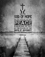 Romans 15:13 Abound in Hope (Black & White) Fine Art Print