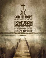 Romans 15:13 Abound in Hope (Sepia) Fine Art Print