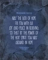 Romans 15:13 Abound in Hope (Blue) Fine Art Print