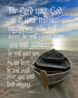 Zephaniah 3:17 The Lord Your God (Beach) Fine Art Print