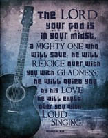 Zephaniah 3:17 The Lord Your God (Guitar) Fine Art Print
