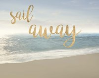Beach Sail Away Framed Print