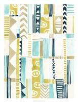 Tribal Patchwork I Framed Print