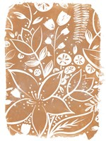 Garden Batik VI Framed Print