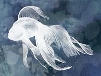 Indigo Fish I Framed Print