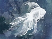 Indigo Fish II Framed Print