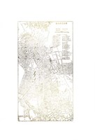 Gold Foil City Map Boston- Metallic Foil Framed Print