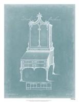 Chippendale Desk & Bookcase II Fine Art Print