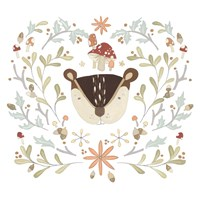 Whimsical Woodland Faces II Fine Art Print