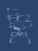 Office Chair Blueprint I Framed Print